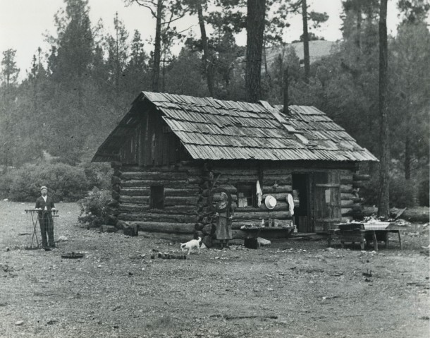 Mr. Dallas & Cabin Near Benitoite Mine ca. 193x