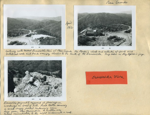 Esmeralda Mine Scrapbook Apr 1962